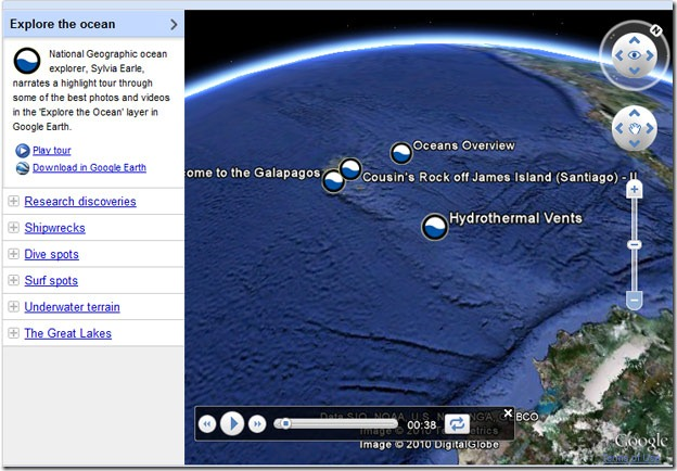 Google Earth Ocean Showcase - Google ocean