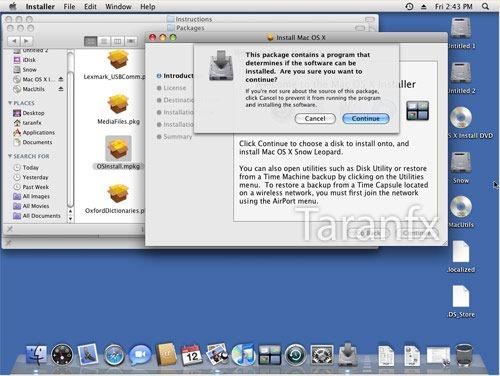 install mac os x snow leopard virtualbox
