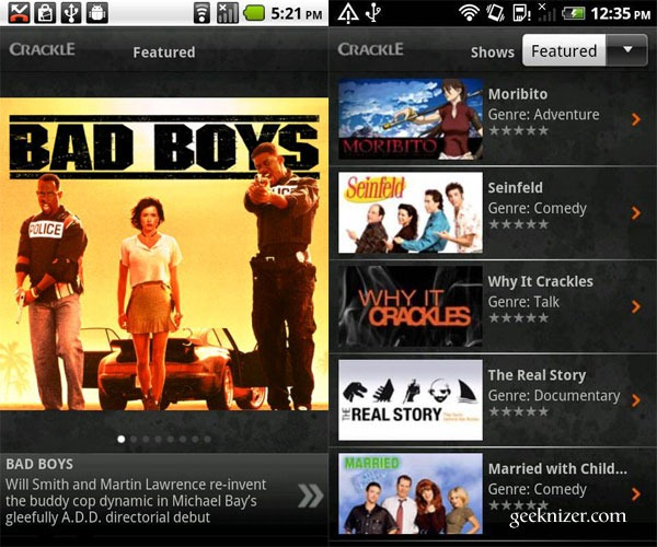 how to download movies from crackle on android