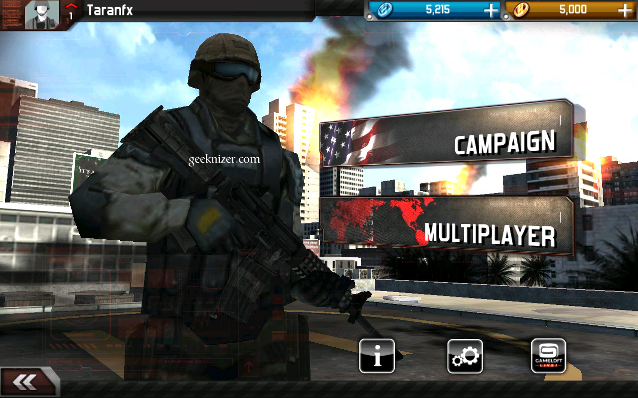 Modern combat android games | Modern Combat 3: Fallen Nation android