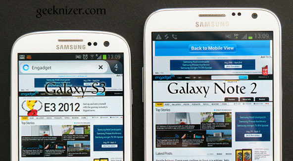 Galaxy note 2 vs S3