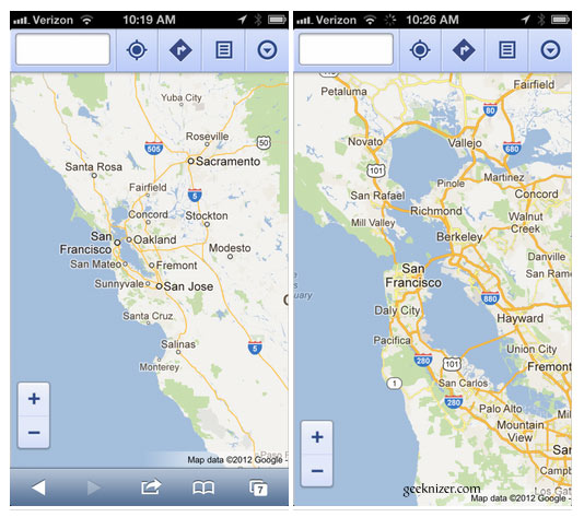 Install google maps fullscreen webapp on ios 6 now you have near native like google maps gumiabroncs Choice Image