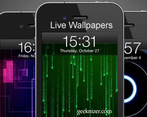 set livewallpaper scrolling wallpaper on iphone