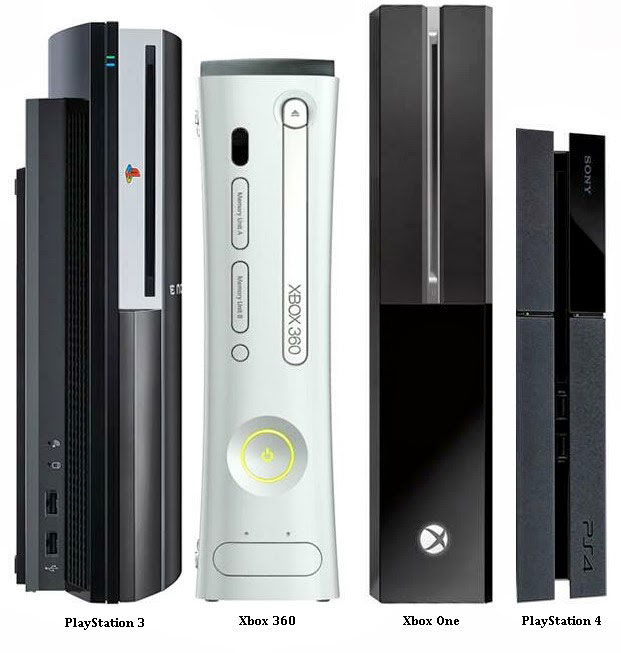 ps4 vs ps3 vs xboxone vs xbox360 size Ps4 Vs Ps3 Vs Xboxone Vs Xbox360    Xbox One Vs Ps4 Size