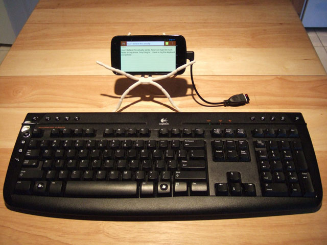 Hook up keyboard to android phone