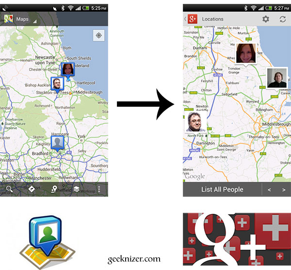 Maps Latitude to Google+ Location Migration
