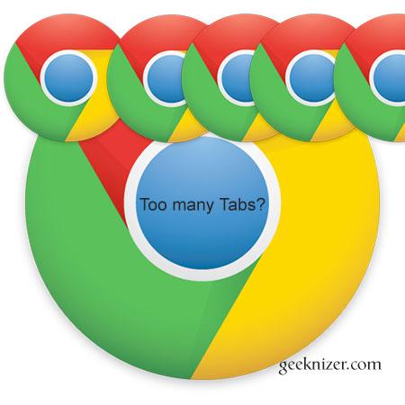 too many chrome tabs