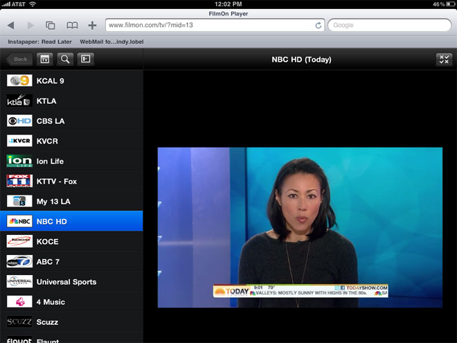 The webapp also features TV schedule, pausing the live show, search TV ...